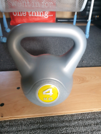 Kettlebell 4kg, home gym fitness weight training, Excellent Condition