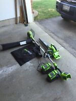 Greenworks Grass Trimmer and Leaf Blower Combo
