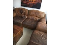 Leather DSF sofas 3+2