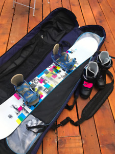 Burton snowboard, boots and bindings (and bag and helmet)
