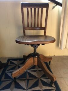 Vintage Oak Banker's Chair $100