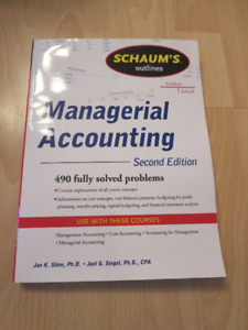 Langara and UBC Managerial Accounting Textbooks