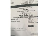 SOLD Disney on ice Tickets Row Q Sat 22 Oct 2:30 pm £40