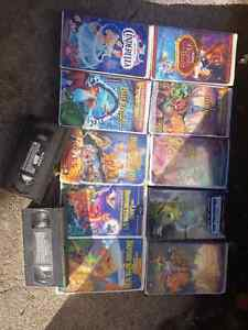 Vhs tapes. Kids movies