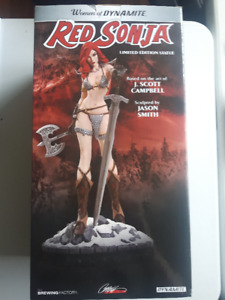 For sale: Collectible Women of Dynamite Red Sonja comic statue