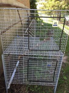 Outdoor two level cage