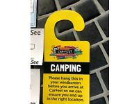 Carfest South Camping x 4 Adults tickets in hand