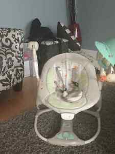 Ingenuity baby swing $50, like new