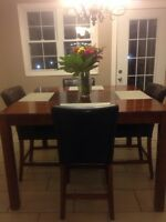 Bar height dinning room table