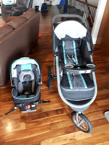 Graco fast action fold jogging stroller/click connect 35 carseat