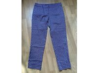 Warehouse printed Cigarette Trousers