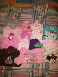 Girls 0 to 6 months clothes