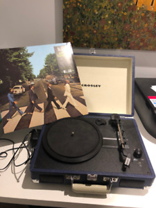 Crosley Cruiser Portable Turntable - W/ New Beatles Vinyl
