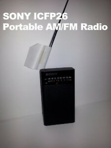 SONY ICFP26 Portable radio with speaker - $8