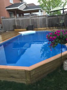 Above Ground Pool for sale INSTALLED!!