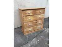 Completely solid pine chest of drawers
