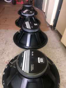 """18"""" and 15"""" inch BSA drivers sub woofer speaker"""