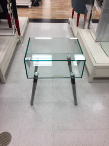 Retro Glass Side Table