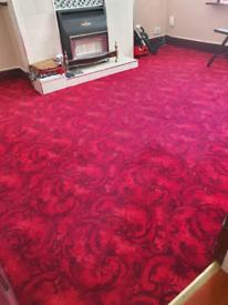 Living room carpet vintage Red