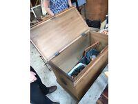 Antique large ottoman/blanket box (Pine)