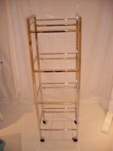 CHROME AND GLASS ETAGERE