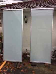 Large Opaque floor to ceiling room dividers -aluminum /glass