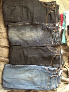 4 pairs of jeans size 1