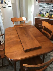 Solid wood table and chairs