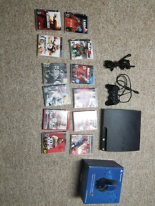 PS3 Bundle System. Controller, Headset, Games
