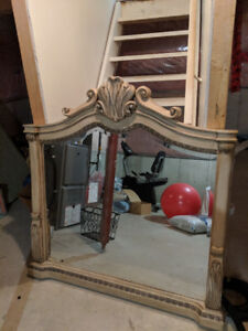 Large rustic chic mirror