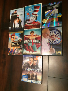 Assorted DVDs (Disney, Divergent, Don Cherry...etc.)