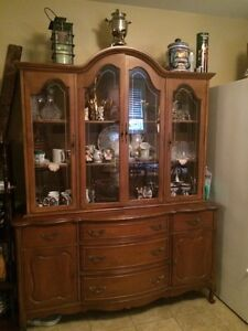 French provincial dress and hutch