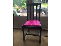 Pair of funky upcycled chairs