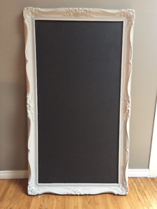 Chalkboard frame wedding