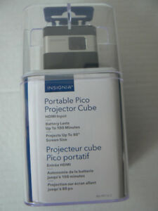 Insignia Portable Pico Projector Cube pocket projector 10/10 new