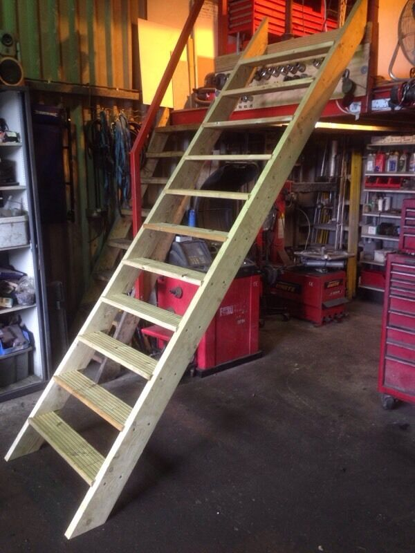 Decking stairs attic cellar loft conversion stairs made to order