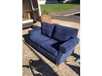 Blue Fabric Sofa.