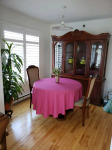 Cherry wood dining room set for sale