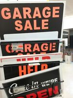Garage sale signs only $1.00 each.