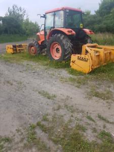 Kubota tractor Mx100  10-14ft blade 100hp