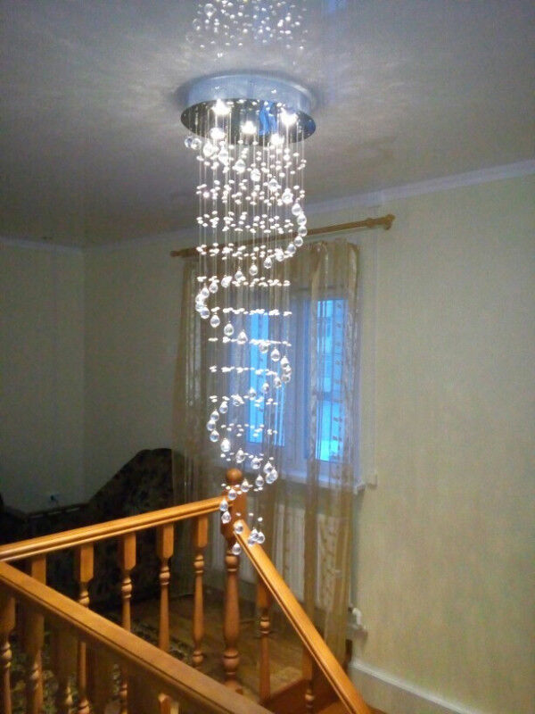 Modern crystal chandelier raindrop style brand new in box indoor 4 listing item type chandeliers aloadofball Images