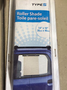 Car window roller shades / blinds