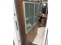 Office cabinet with glass doors