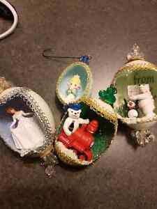 HAND CRAFTED egg ornaments