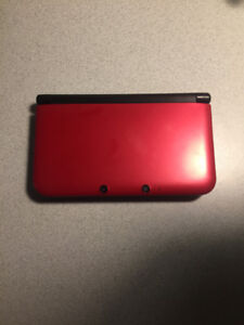 3DS XL with 9 3DS games, charger, and carrying case