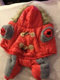 Thick fur puppy jacket