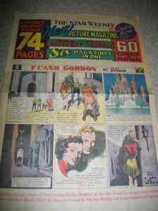 1930's STAR WEEKLY COMIC STRIPS  / FLASH GORDON & BUCK ROGERS