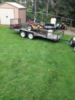 Two place atv trailer