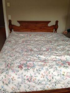 Oak Qeen side bed frame