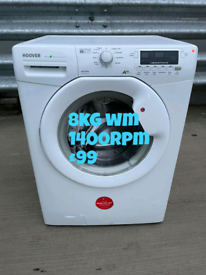 Hoover 8kg washing machine free delivery in Coventry